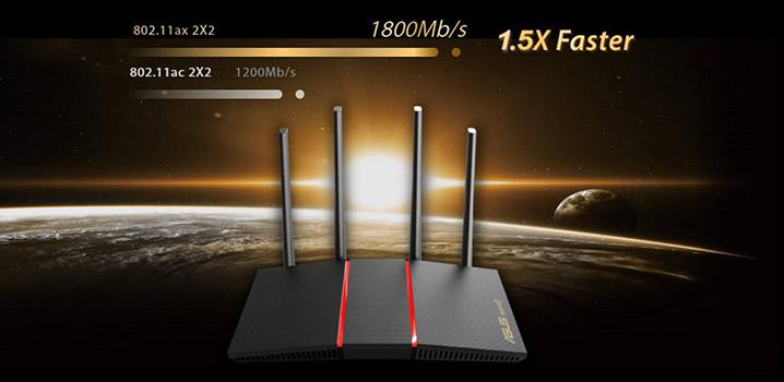 Asus RT-AX55 - Nejlepší routery v roce 2021 s podporou WIFI 6