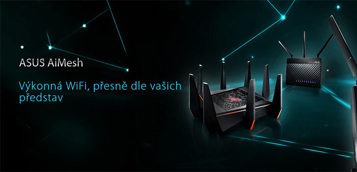 Mesh pomocí routerů od značky Asus – AiMesh