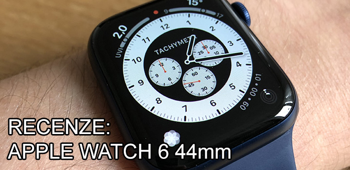 Recenze Apple Watch 6 navy blue 44mm