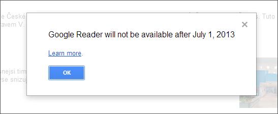 Google Reader končí